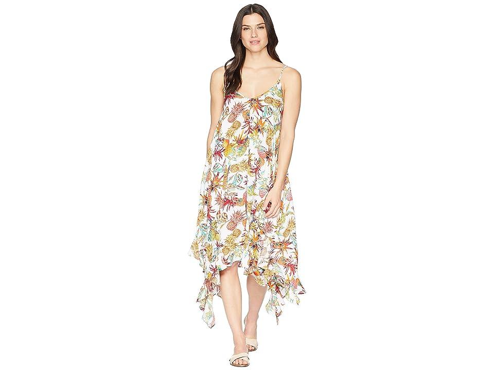 Bleu Rod Beattie Rayon Handkerchief-Hem Dress Cover-Up (White) Women