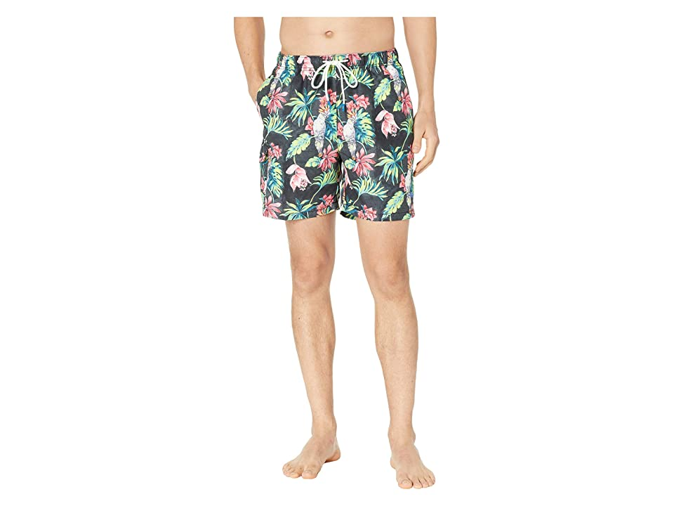 Tommy Bahama Naples Tahitian Tweets Swim Trunks (Black) Men