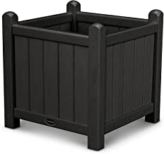 "product image for POLYWOOD GP16BL Traditional Garden 16"" Planter, Black"
