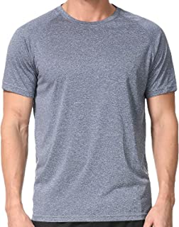 Men's Dry Fit Athletic T-Shirts, Short Sleeve Crew Neck Workout Tees