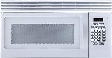 Black+Decker EM044KJN-P1 1.6-Cu. Ft Top Mount Air Reci Over-the-Range Microwave, White