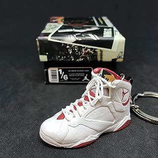 Air Jordan VII 7 Retro Hare Bugs Bunny OG Sneakers Shoes 3D Keychain 1:6 Figure + Shoe Box