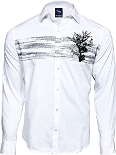 Men`S Designed Cotton Printed Casual Shirt