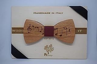 Papillon in legno,note musicali, iniziali gratuite papillon legno, iniziali gratuite, uomo, abbigliamento, accessori uomo,...