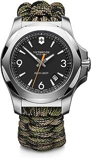 Victorinox Men's Stainless Steel Swiss Quartz Watch with Nylon Strap, Black, 21 (Model: 241894)