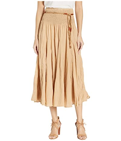 Scully Cantina Gar-Ye Skirt w/ Belt (Khaki) Women