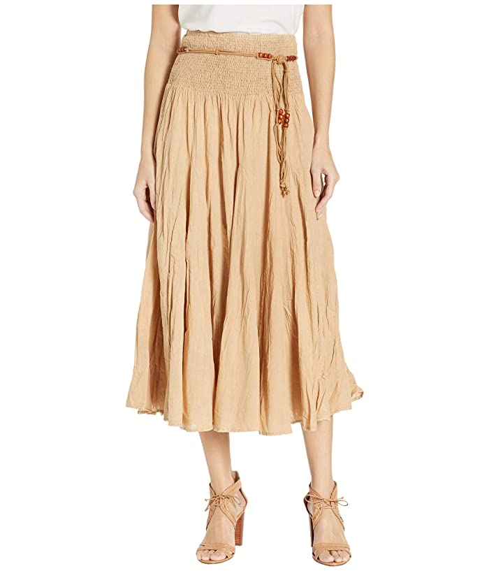 Scully Cantina Gar-Ye Skirt w/ Belt (Khaki) Women