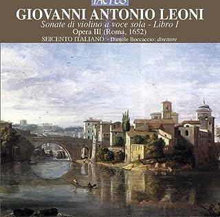 Leoni Sonate Di Violino A Voc