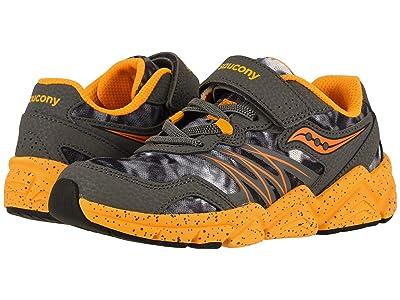 Saucony Kids Flash A/C (Little Kid) (Grey/Orange) Boys Shoes