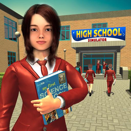 jeu de simulation fille lycée, jeux d'aventure école de vie virtuelle 3D