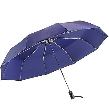 パール金属 大きい 折りたたみ 傘 ワンタッチ 自動開閉 130cm テフロン 撥水加工 丈夫な 10本骨 ネイビー N-7545