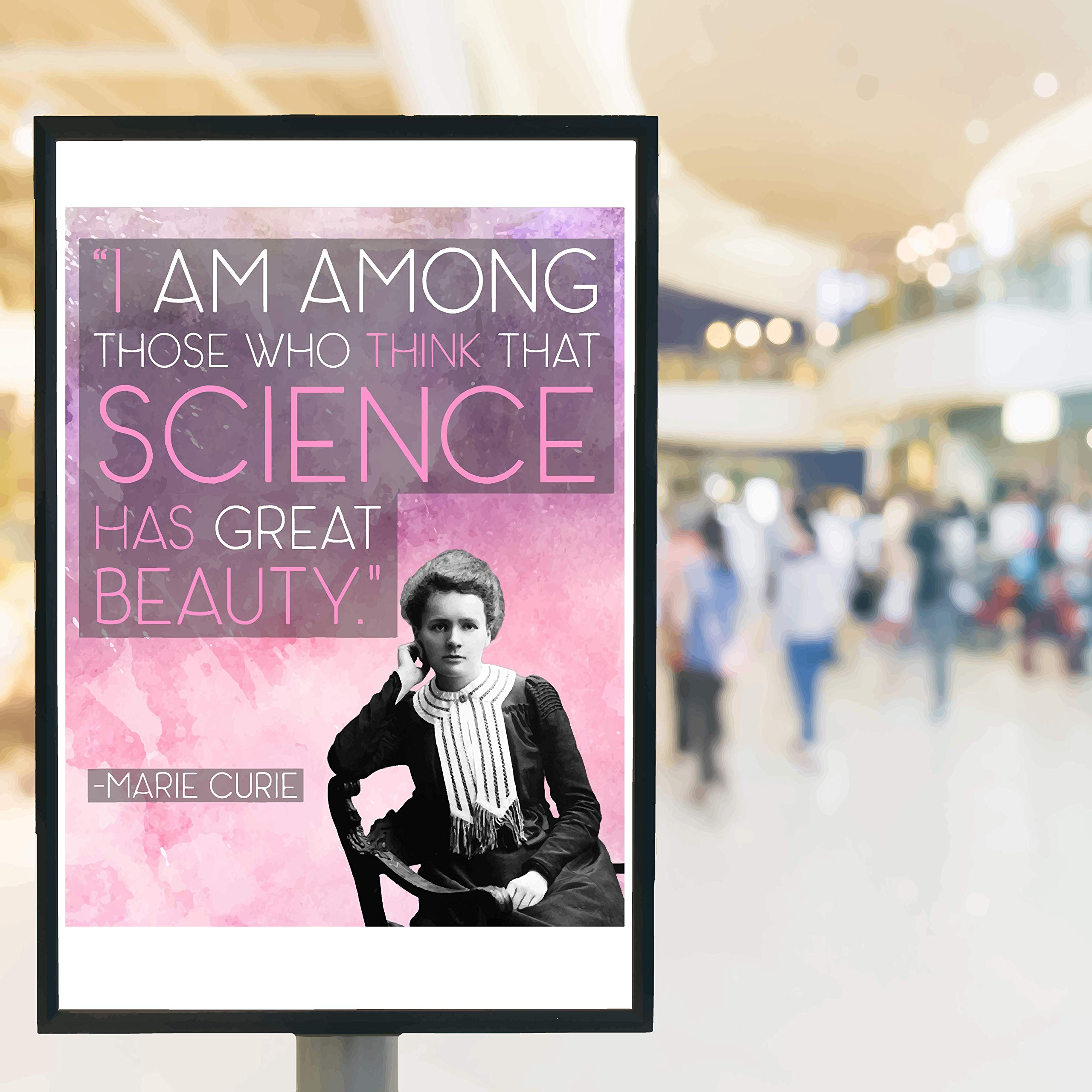 Marie Curie Quote Scientific Girl Quote Science Poster
