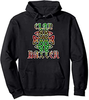 Baxter Scottish Clan Family Name Tartan Knot  Pullover Hoodie