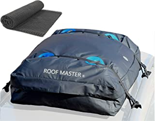 P.I. Auto Store ROOFMASTER Rooftop Cargo Carrier for All Vehicles with or Without Roof Rack. Truck Bed Storage Bag. Unique Waterproof Design - 16 Cu ft Roof Bag. Includes Car Roof Top Mat