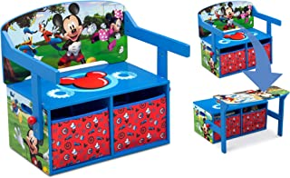 Delta Children Kids Convertible Activity Bench, Disney Mickey Mouse