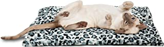 FurHaven Pet Heating Pad | ThermaNAP Faux Fur Self-Warming Bed Mat for Dogs & Cats, Snow Leopard