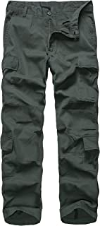 BACKBONE Mens Casual Cargo Pants Military Army Style Camouflage Paratrooper Pants