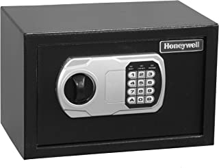 HONEYWELL - 5101DOJ Approved Small Security Safe with Digital Lock, 0.27-Cubic Feet, Black