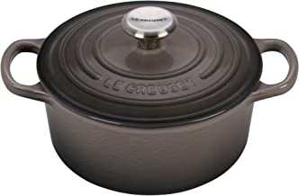 Le Creuset Signature Enameled Cast-Iron 2-Quart Round French (Dutch) Oven, Oyster