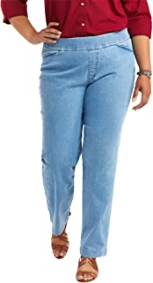 Chic Classic Collection Women's Plus Size Easy Fit Elastic Waist Pull On Pant