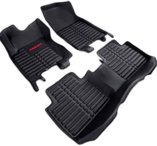 AWEMAT Custom Fit Car Floor Mats for Nissan Rogue 2014-2019 / Nissan Xtrail 2014-2019 Floor Liners,Model Digital Measured Exquisite Pattern-Large Coverage -Waterproof-All Weather Protection-Black
