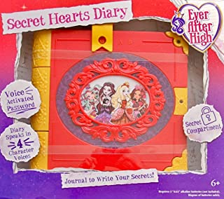 EVER AFTER HIGH Journal SECRET HEARTS DIARY w 4 Character Voices, VOICE Activated PASSWORD, & Secret Compartment (2015)