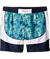 Armani Junior - Digital Water Printed Swimsuit (Toddler/Little Kids/Big Kids)