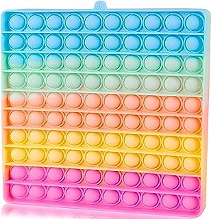 Big Size Push Pop Bubble Sensory Fidget It Cheap Toys, Popper Poppers popitsfidgets 100 Bubbles Stress Reliever Silicone P...