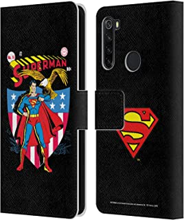 オフィシャル Superman DC Comics ナンバー・フォーティーン フェイマス・コミックブック・カバー Xiaomi Redmi Note 8T 専用レザーブックウォレット カバーケース