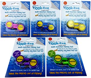 Hook-Eze Fishing Tool - 5 Twin Packs - Hook Tieing & Safety Device + Line Cutter - Tie Swivels Cover 10 Fishing Rods Manuf...