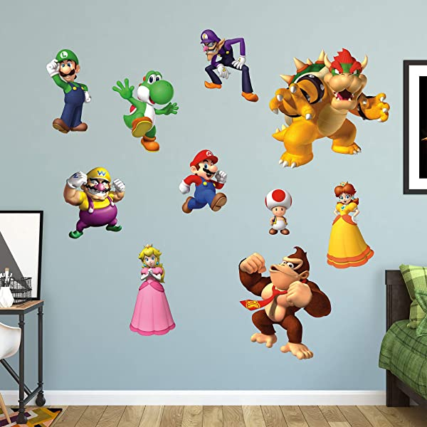 FATHEAD Super Mario Characters Collection Giant Officially Licensed Nintendo Removable Wall Decal