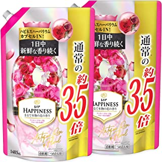 [Bulk Purchase] Lenore Happiness Fabric Softener, Antique Rose & Floral Refill, Extra Large, 485 ml x 2 Packs