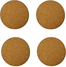"Gardener's Blue Ribbon Plastec Cork Mat 10"" Natural Cork Black, 4 Pack"