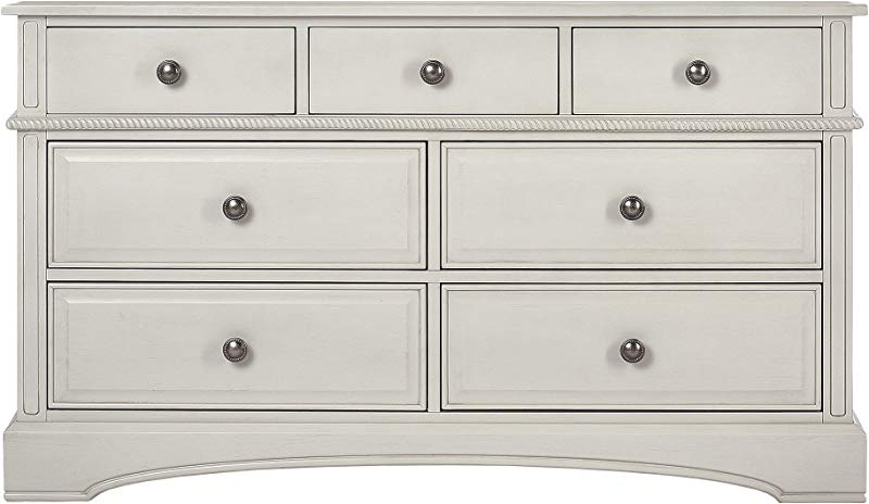 Evolur Double Drawers Dresser In Antique White