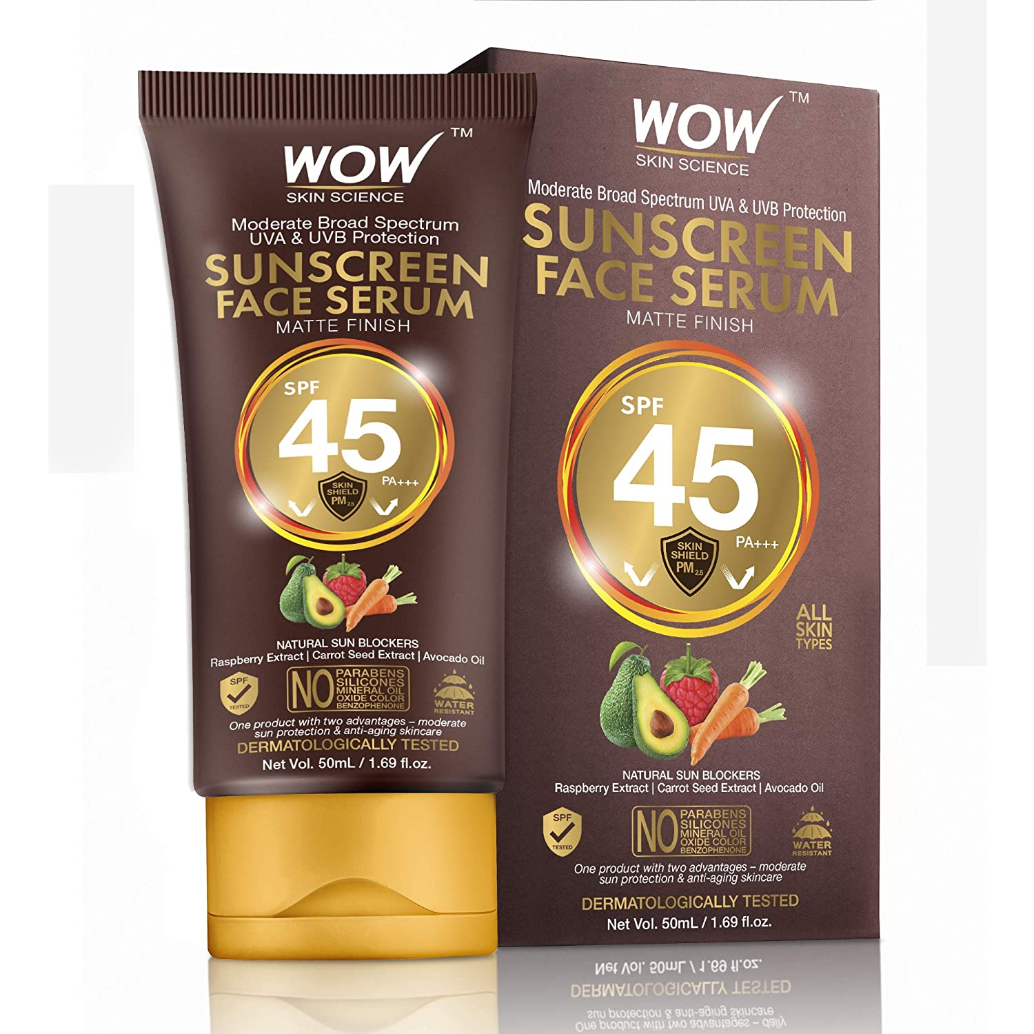 WOW Skin Science Matte NEW before Long Beach Mall selling ☆ Finish Sunscreen 45 SPF Serum Face PA+++