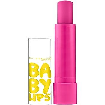 Maybelline New York Baby Lips Moisturizing Lip Balm, Pink Punch, 0.15 oz.