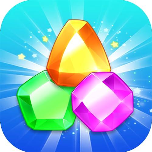 Jewel Blast Mania - Conecte 3 joias e pedras preciosas para fazer a partida e conectar a estrela da jóia com uma diversão desafiadora!
