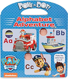 Melissa & Doug PAW Patrol Children's Book - Poke-A-Dot: Alphabet Adventure