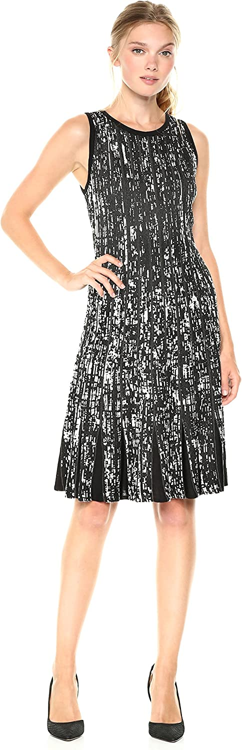 NIC & ZOE Womens Boulevard Twirl Dress Dress