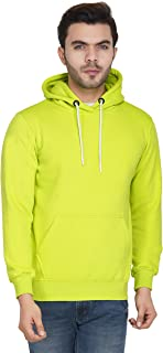 Urban Age Clothing Co. Men's Cotton Plain Hoodie Sweatshirt
