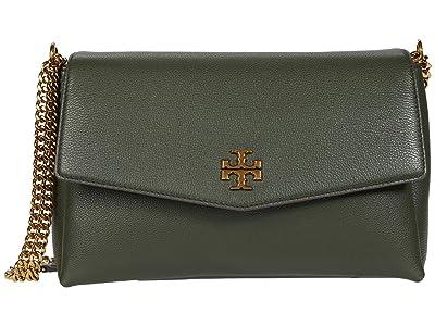 Tory Burch Kira Pebbled Convertible Shoulder Bag (Poblano) Handbags