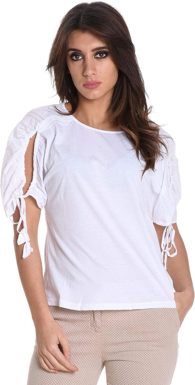 Suoli Women's S2718006001 White Cotton TShirt