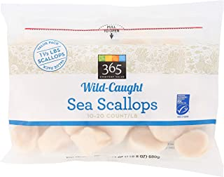 365 Everyday Value, Frozen Wild-Caught Seafood Value Pack, Sea Scallops (10-20 Count/Pound), 24 Ounce