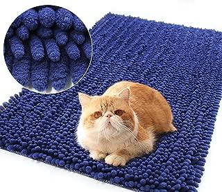 Vivaglory 3D Design Cat Litter Mat, Soft Microfiber Litter Box Mat, Waterproof and Ultra Absorbent Shag Rug, Best Scatter Control, Machine Washable