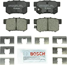 Bosch BC537 QuietCast Premium Ceramic Disc Brake Pad Set For: Acura CL, CSX, ILX, RSX, TL, TSX, Vigor; Honda Accord, Civic, CR-Z, Prelude, S2000; Suzuki Kizashi, SX4, Rear