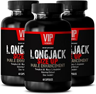 Testosterone Booster for Men Over 50 - LONGJACK Size UP 2170Mg - Male Enhancement Supplement (with Maca, Tongkat Ali, L-Ar...