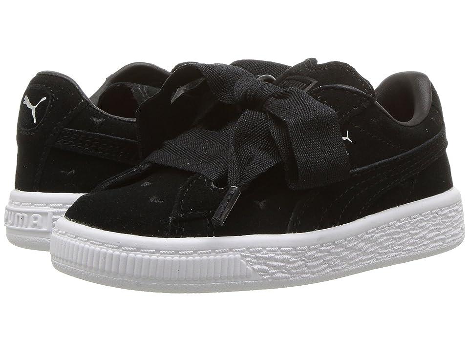 Puma Kids Suede Heart Valentine (Toddler) (Puma Black/Puma Black) Girls Shoes