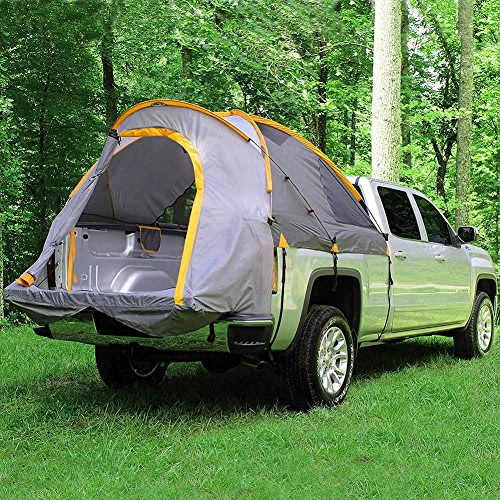 Qnlly Camping de Voyage pour Tente de camionnette, Tente de Loisirs, Tente imperméable et Ignifuge, Tente de Voiture de Toit imperméable Jaune gris,1.6M
