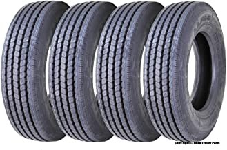 Set 4 New LEAO 225/70R19.5 14 Ply Rated All Position Truck/trailer Radial Tires - 11068