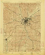 YellowMaps Lincoln NE topo map, 1:125000 Scale, 30 X 30 Minute, Historical, 1897, Updated 1913, 19.6 x 16 in